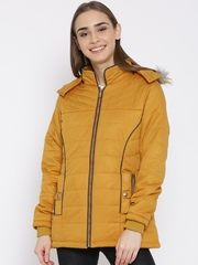 Fort Collins Mustard Yellow Parka Jacket with Detachable Hood