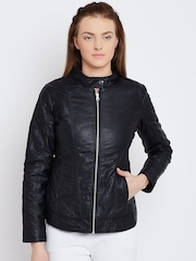 Fort Collins Black Faux Leather Jacket