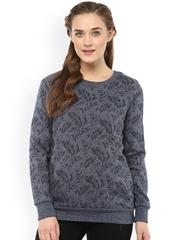 Femella Grey Printed Sweatshirt