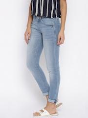 Lee Women Blue Skinny Fit Low-Rise Clean Look Jeans