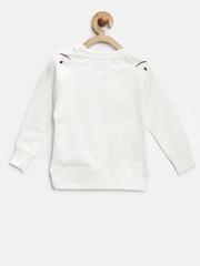 Nauti Nati Girls Off-White Appliqué Sweatshirt