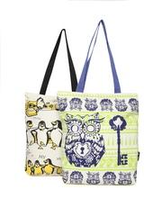 Kanvas Katha Pack of 2 Printed Canvas Tote Bags