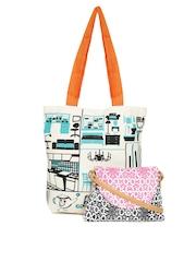 Kanvas Katha Set of 2 Printed Bags