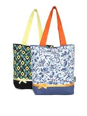 Kanvas Katha Pack of 2 Printed Tote Bags