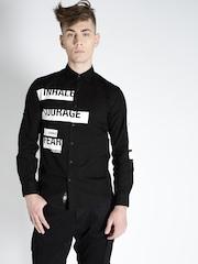 Ecko Unltd Men Black Printed Casual Shirt