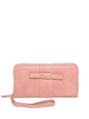 DressBerry Women Dusty Pink Zip-Around Wallet