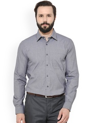 Turtle Men Grey Slim Fit Self-Design Casual Shirt