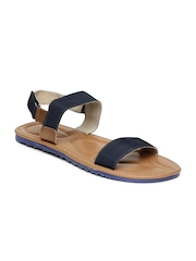 U.S. Polo Assn. Men Navy & Brown Sandals