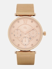 DressBerry Women Rose Gold-Toned Analogue Watch MFB-PN-WTH-S5596-1