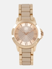 DressBerry Women Rose Gold-Toned Analogue Watch MFB-PN-WTH-S5740-1