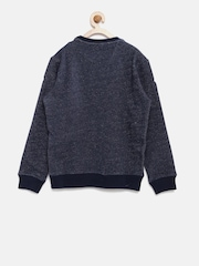 Indian Terrain Boys Navy Printed Pullover Sweatshirt