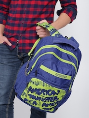 AMERICAN TOURISTER Unisex Blue & Green 2016 Hoola1 Printed Backpack