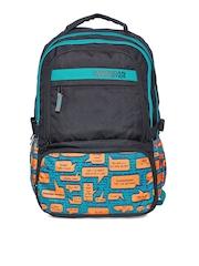 AMERICAN TOURISTER Unisex Black & Blue 2016 Hoola 2 Printed Backpack