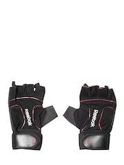 Reebok Unisex Black Fingerless Lifting Gloves