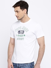 Pepe Jeans Men White Printed T-shirt