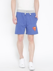 Superman Men Blue Printed Detail Shorts