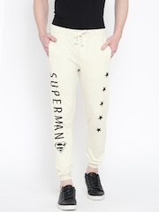 Superman Off-White Printed Track Pants