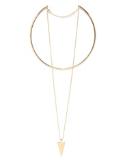 DressBerry Gold-Toned Collar Lariat Necklace
