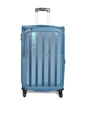 Safari Unisex Blue Safari Lino Medium Trolley Bag