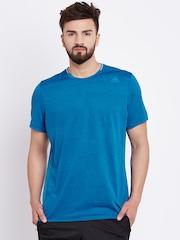 Adidas Men Blue SN SS Solid Round Neck Running T-shirt