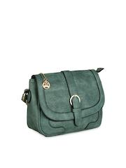 Moedbuille Green Patterned Sling Bag