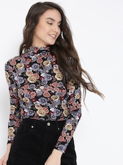 FOREVER 21 Women Multicoloured Floral Print Fitted Top