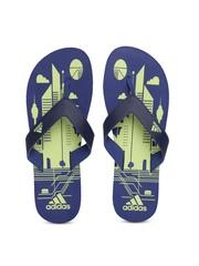 Adidas Men Navy & Green Printed MAX Out Flip-Flops