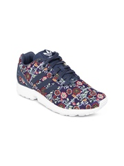 Adidas Originals Women Blue Floral Print Zx Flux Sneakers