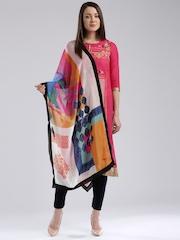 W Multicoloured Printed Dupatta