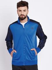 Adidas Blue ESS 3S AOP Printed Track Jacket