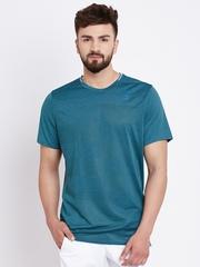 Adidas Men Green SN Self-Design Round Neck Running T-shirt