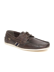 Red Tape Men Coffee Brown Solid Leather Boat Shoes