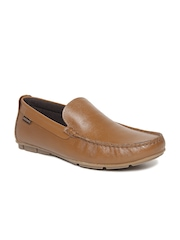 Red Tape Men Tan Brown Leather Semiformal Slip-Ons
