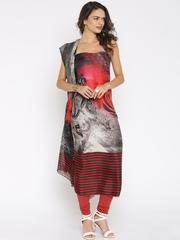 Jashn Blue Crepe Unstitched Dress Material