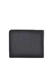 Second SKIN Men Black Genuine Leather Wallet