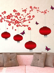 Aspire Red Chinese Lamps Wall Sticker