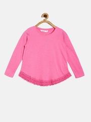 Bossini Girls Pink Lace Crochet Top