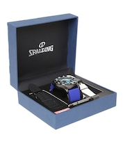 Spalding Men Blue Camouflage Print Dial Watch with Interchangeable Straps SP-057