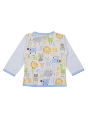 Lilliput Girls Blue Printed Clothing Set