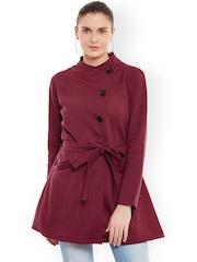Belle Fille Maroon Overcoat