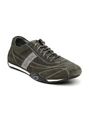 Woodland Men Charcoal Grey OGC Suede Sneakers