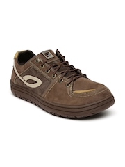 Woodland Men Leather Brown Sneakers