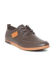 ID Men Coffee Brown Solid Sneakers