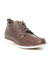 Lee Cooper Men Brown Solid Leather Casual Shoes