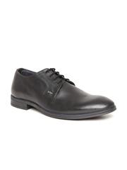 Lee Cooper Men Black Genuine Leather Formal Shoes