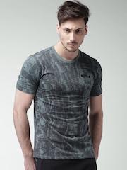 Nike Men Teal Printed T-shirt