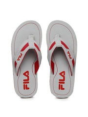 113960be4494 FILA Men Grey Red Printed Flip Flops available at Myntra for Rs.659