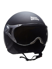 Royal Enfield Black Aviator MLG Open Face Helmet
