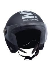 Royal Enfield Black Printed Open Face Helmet