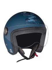 Royal Enfield Blue Printed Open Face Helmet